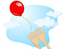 El volar de bola de aire Imágenes de archivo libres de regalías