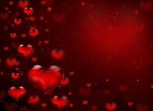 El volar de cristal de los corazones Imagenes de archivo