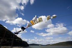 El volar de la ropa Imágenes de archivo libres de regalías
