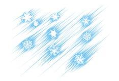 El volar de los copos de nieve Fotos de archivo libres de regalías
