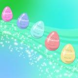 El volar de los huevos de Pascua Imágenes de archivo libres de regalías