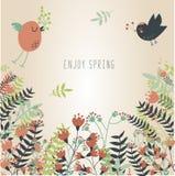 El volar de los pájaros de la primavera Imágenes de archivo libres de regalías