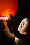 El volar deseando a la muchacha ligera Fotografía de archivo libre de regalías