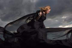 El volar en el viento Fotografía de archivo