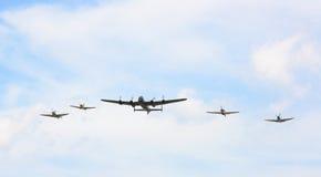 El volar en la formación Fotos de archivo