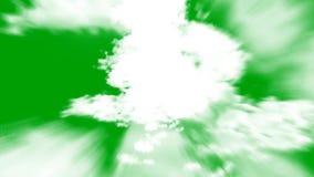 El volar en las nubes en un fondo de pantalla verde ilustración del vector