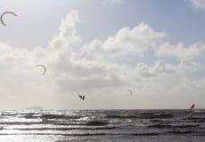 El volar en un ala Imagen de archivo