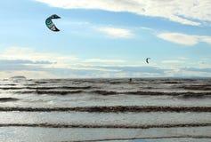 El volar en un ala Fotografía de archivo libre de regalías