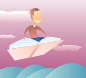 El volar en un libro libre illustration