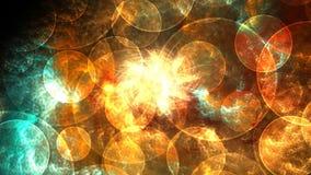 El volar en una nebulosa colorida y dinámica stock de ilustración