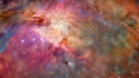 El volar lejos de la nebulosa y de las estrellas de la galaxia ilustración del vector