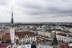 El volar sobre la República Checa Fotos de archivo libres de regalías