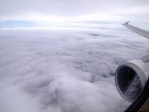 El volar sobre las nubes Foto de archivo libre de regalías