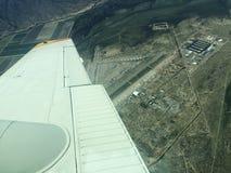 El volar sobre Pinal Airpark fotos de archivo libres de regalías
