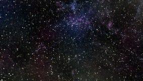El volar a través de campos de estrella en espacio profundo stock de ilustración
