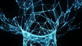 El volar a través de embudo digital binario del túnel del plexo
