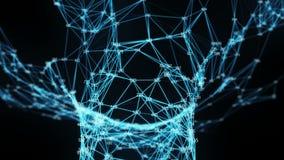 El volar a través de embudo digital del túnel del plexo de los dígitos al azar