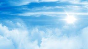 El volar a través de las nubes libre illustration