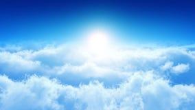 El volar a través de las nubes Looop stock de ilustración