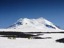 El volcán activo más situado más al norte Beerenberg del mundo Imágenes de archivo libres de regalías