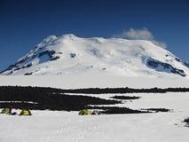 El volcán activo más situado más al norte Beerenberg del mundo Imagen de archivo libre de regalías