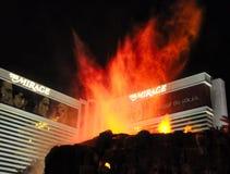 El volcán del espejismo Fotos de archivo libres de regalías