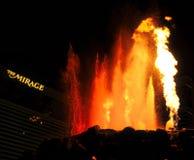El volcán del espejismo Imagen de archivo