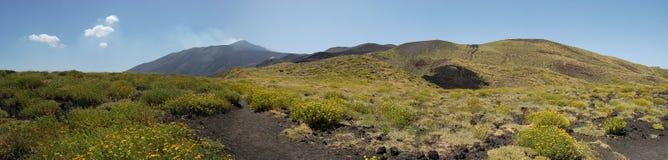 El volcán del Etna Imagenes de archivo