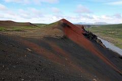 El volcán Raudholar Foto de archivo libre de regalías