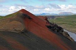 El volcán Raudholar Fotos de archivo