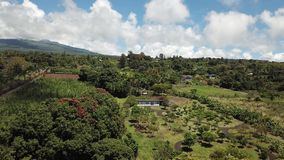El volcán se inclina isla grande Hawaii metrajes