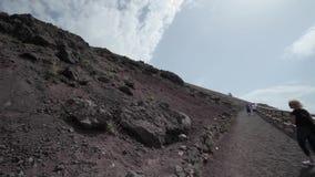 El volcán Vesuvio, Italia almacen de video