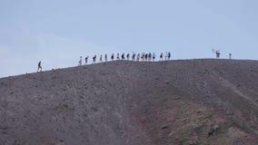 El volcán Vesuvio, Italia metrajes