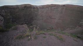 El volcán Vesuvio, Italia almacen de metraje de vídeo