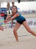 El voleibol de la playa consigue o fijó Foto de archivo