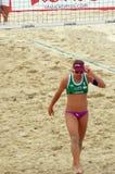 El voleibol 2015 de playa del torneo del golpe de la glándula de Moscú Rusia Moscú 31 puede 2015 Foto de archivo
