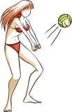 El voleibol del juego de la muchacha stock de ilustración