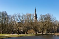 El Vondelchurch en la Amsterdam Vondelpark Imagen de archivo