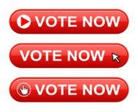El voto ahora abotona ilustración del vector