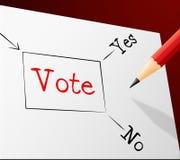 El voto bien escogido indica la confusión y la trayectoria de la elección Foto de archivo libre de regalías