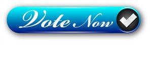 El voto creativo del diseño ahora hace tictac botón colorido del web de la marca libre illustration