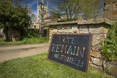 El voto sigue siendo muestra para la campa?a europea de Brexit del refer?ndum del 23 de junio de 2016 - Newington del sur, Oxford imágenes de archivo libres de regalías