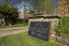 El voto sigue siendo muestra para la campa?a europea de Brexit del refer?ndum del 23 de junio de 2016 - Newington del sur, Oxford fotografía de archivo