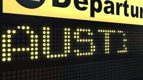 El vuelo a Austin en salidas del aeropuerto internacional sube El viajar a la animación conceptual de la introducción de Estados  ilustración del vector