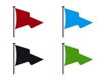 El vuelo del club de deporte señala la ilustración por medio de una bandera Imagen de archivo libre de regalías