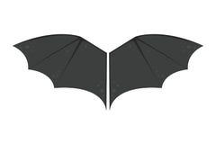 El vuelo del vampiro del mamífero de Halloween de la mosca del animalwildlife del negro del palo de las alas y la paz natural de  stock de ilustración