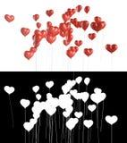 El vuelo hincha en la dimensión de una variable de un corazón Imagen de archivo