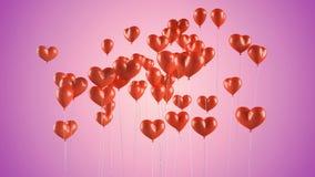 El vuelo hincha en la dimensión de una variable de un corazón Foto de archivo libre de regalías