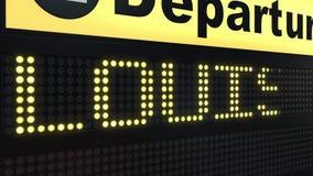 El vuelo a Louisville en salidas del aeropuerto internacional sube El viajar a la introducción conceptual de Estados Unidos ilustración del vector