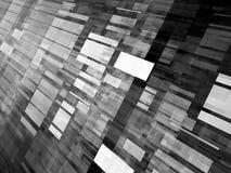 El vuelo que brilla intensamente teja efecto blanco y negro Fotografía de archivo libre de regalías